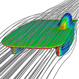 increasind the aerodynamic efficiency of the A small increase in aerodynamic -20 efficiency (about 10%) is observed due to 0 1 2 3 4 5 6 angle of attack, degree decrease ground clearance, as shown in figure (11), about 10% increase in figure (9): variation between angle of attack aerodynamic efficiency was observed due to and (l/d) in ground condition (h/c = 01) the decrease of ground.