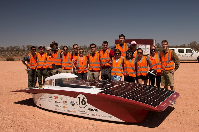 The Stanford Solar Car Project Team With Arctan