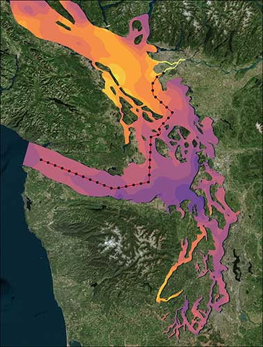 Puget Sound Transect in Tecplot 360