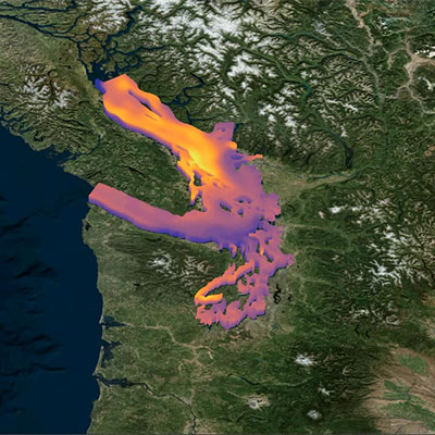 Salish Sea with georeferenced Image